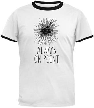Old Glory Sea Urchin Always on Point Mens Ringer T Shirt -Black SM