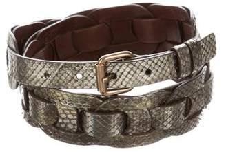 Marc Jacobs Metallic Snakeskin Belt