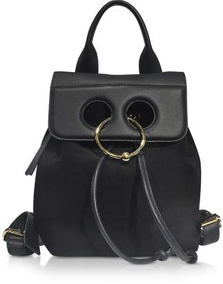 J.W.Anderson Black Suede and Leather Mini Pierce Backpack
