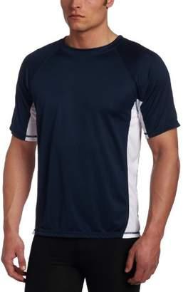 Kanu Surf Men's Big CB Extended-Size Rashguard UPF 50+ Swim Shirt