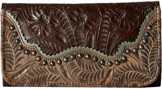 American West Saddle Ridge Trifold Wallet Wallet Handbags