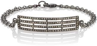 Feathered Soul Women's Oxidized Sterling Silver Plate Bracelet