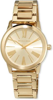 MICHAEL Michael Kors 38mm Hartman Bracelet Watch, Gold $175 thestylecure.com
