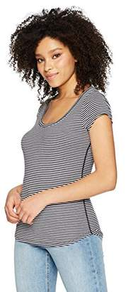 Three Dots Women's Montauk Stripe Scoop Mid Tight Top