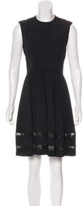Aquilano Rimondi Aquilano.Rimondi Macramé-Trimmed Knee-Length Dress w/ Tags Black Aquilano.Rimondi Macramé-Trimmed Knee-Length Dress w/ Tags