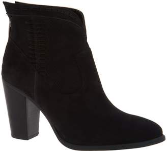 Vince Camuto Perforated Suede Ankle Boots - Fretzia