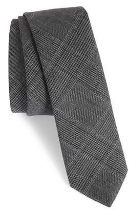 Eleventy Glen Plaid Wool Skinny Tie