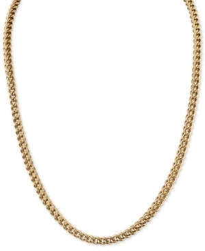 "Macy's Esquire Men's Jewelry 22"" Foxtail Chain Necklace in Gold-Tone Ion-Plated Stainless Steel, Created for"