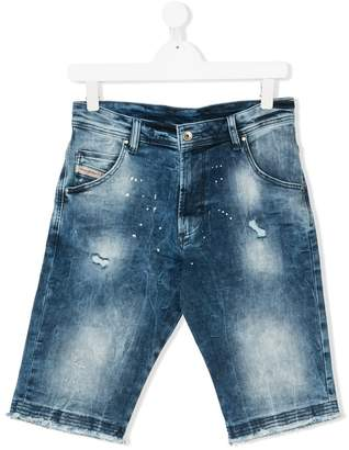 Diesel TEEN stonewashed denim bermuda shorts
