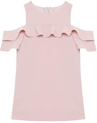 Bardot Tilvie Ruffle-Trim Cold-Shoulder Shift Dress, Size 8-16