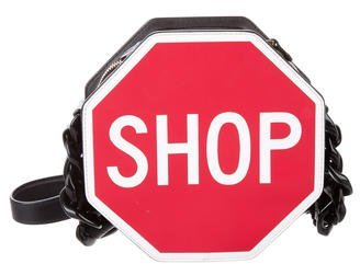 Moschino 2016 Shop Stop Sign Shoulder Bag