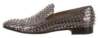 Christian Louboutin Dandelion Leather Spikes Slippers