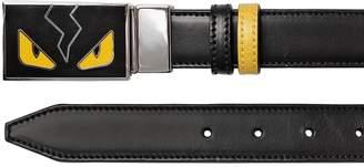 Fendi Monster Reversible Leather Belt