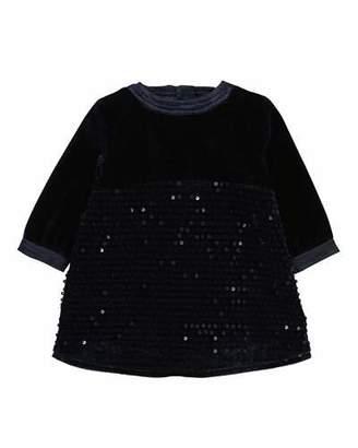 Billieblush Velvet & Sequin Long-Sleeve Dress, Size 2-3