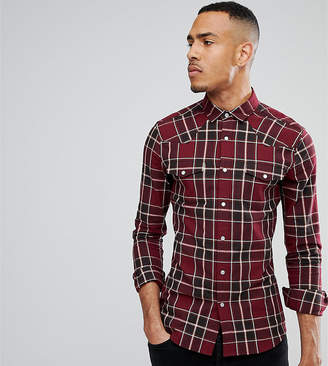 Asos Design Tall Skinny Western Check Shirt