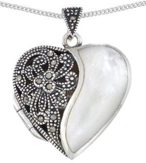 Lord & Taylor Sterling Silver Heart Pendant Necklace