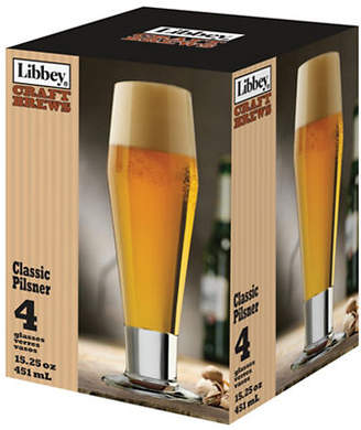Libbey Set of Four Pilsner Glasses
