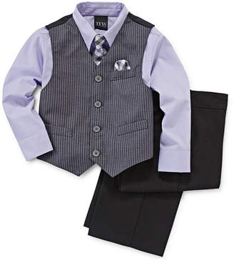 JCPenney TFW 4-pc. Dress Shirt, Tie, Vest and Pants Set - Boys 4-10