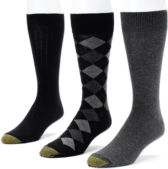 Gold Toe Goldtoe Men's GOLDTOE 3-pk. Double-Argyle Dress Socks