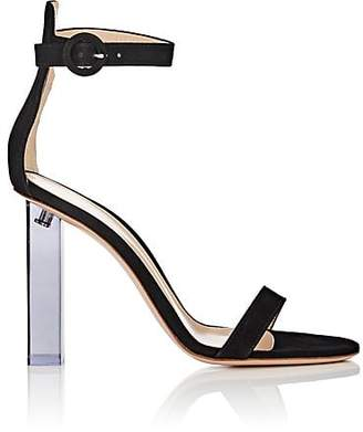 Gianvito Rossi Women's Elias Suede Ankle-Strap Sandals - Black