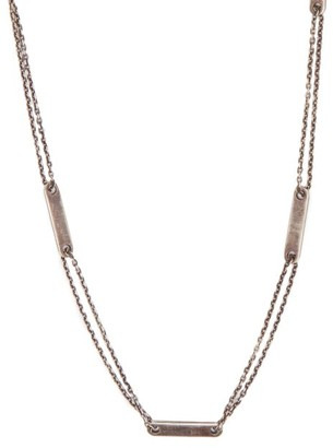 M. Cohen Tag Chain Sterling Silver Necklace - Mens - Silver