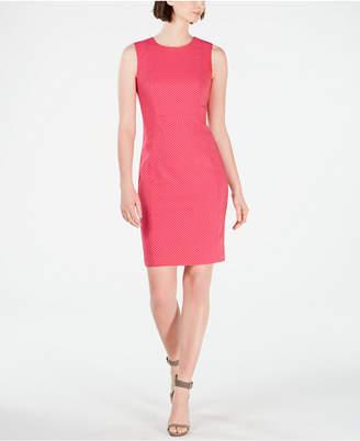 Calvin Klein Petite Dot-Print Sheath Dress
