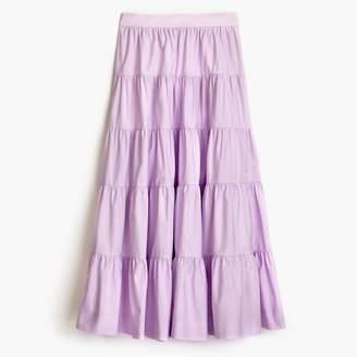 J.Crew Tiered midi skirt in cotton poplin