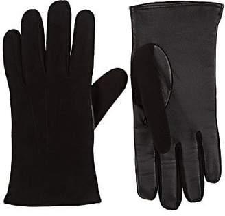 Barneys New York Men's Tech-Smart Suede Gloves - Black