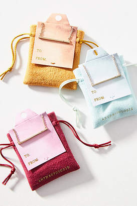 Anthropologie Holiday Cheers Bar Necklace Gift Set