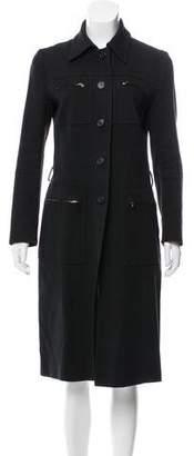 Prada Zip-Accented Longline Jacket