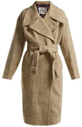 Vivienne Westwood Wilma Belt Fastening Wool Coat - Womens - Beige