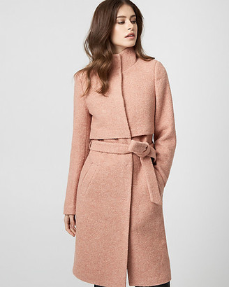 Le Château Boiled Wool Funnel Neck Coat