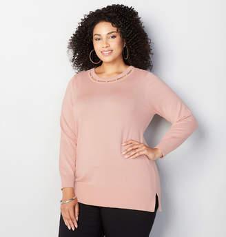Avenue Pearl Collar Sweater
