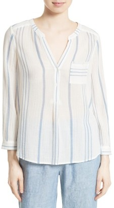 Women's Joie Almae Stripe Cotton Blouse $188 thestylecure.com