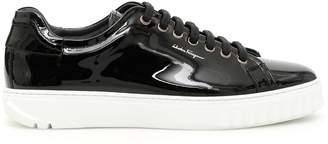 Salvatore Ferragamo Patent Cube 2 Sneakers