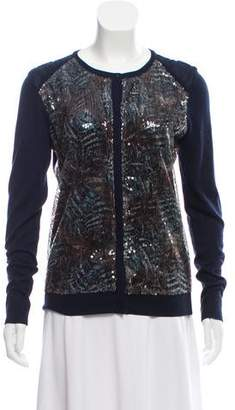 Magaschoni Sequined Silk Cardigan