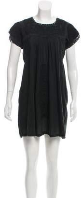Miguelina Embroidered Mini Dress