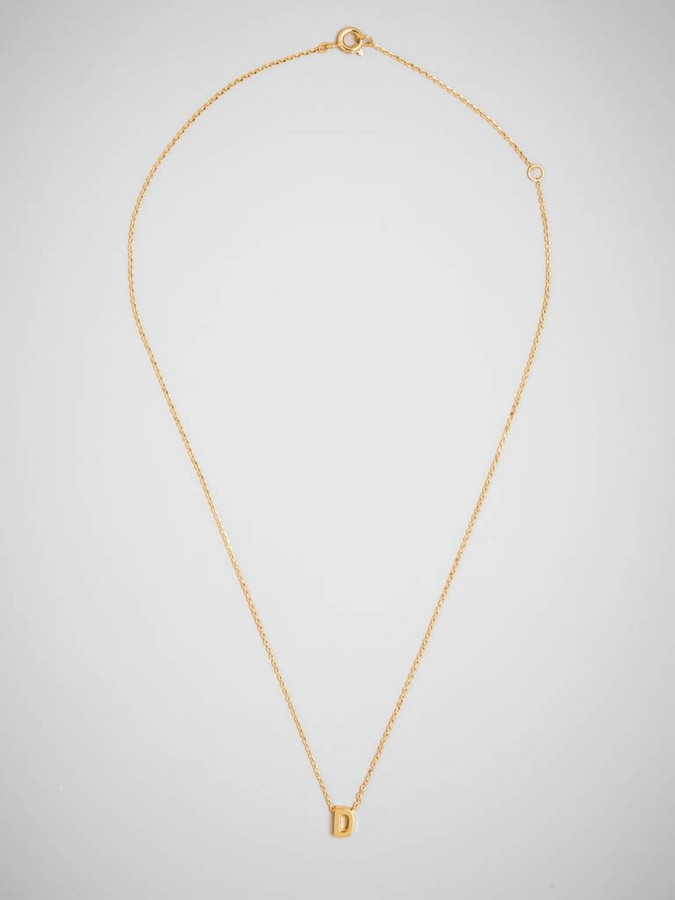 BaubleBar Gold Initial Letter Pendant