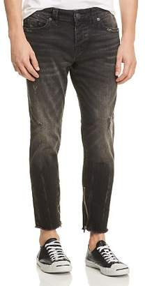 True Religion Frayed Finn Slim Tapered Jeans in Dark Envy