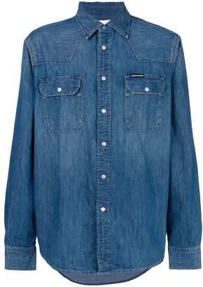 CK Calvin Klein classic button denim shirt