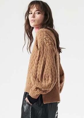 Nude v neck sweater in camel (6)