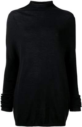 Rick Owens mock neck mid-length sweater