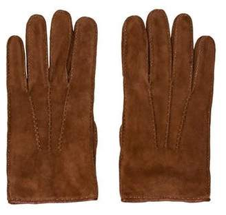 Barneys New York Barney's New York Cashmere-Lined Suede Gloves