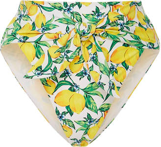 Onia +WeWoreWhat Riviera Tie-Detailed Printed Bikini Briefs
