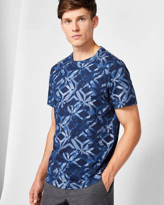 WOOF Geo print cotton T-shirt