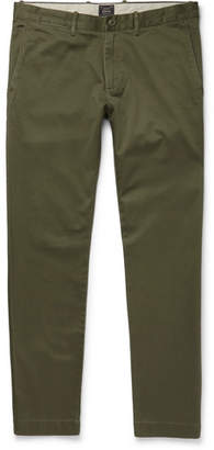 J.Crew Stretch-Cotton Twill Chinos - Green