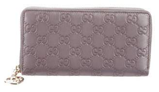 Gucci Guccissima Shine Zip-Around Wallet