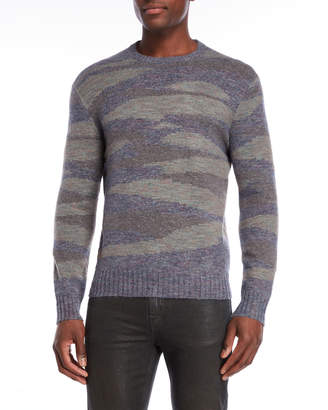 Michael Bastian Camo Crew Neck Sweater