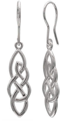 Celtic SILVER TREASURES Sterling Silver Twisted Design Earrings