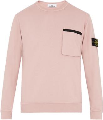Contrast-zip cotton sweatshirt